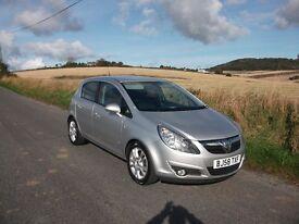 2008 Vauxhall Corsa SXI 1.3 CDTI 6 speed Diesel 5 dr, only 57,000 mls & full years MOT £2850.00