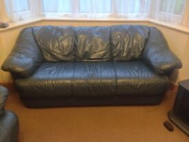 3 -Seater Leather Sofa - Excellent Condition