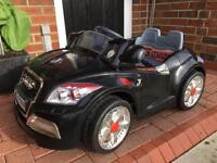 Audi battery electric ride on car children's car in black