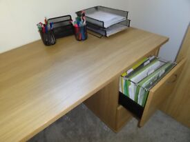 DESK FOR HOME OFFICE and 2 DRAWER FILING UNIT plus CHAIR