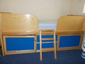 Children's mid sleeper with storage