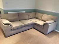 Beige Corner Sofa £100 ONO