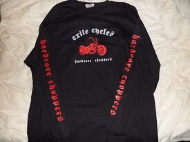 EXILE CYCLES APPAREL, JACKET, HOODIE, T-SHIRTS,BELT BUCKLES e.t.c.