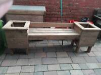 New garden benches with end planters
