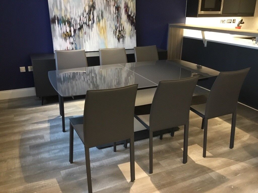 Enjoyable Boconcept Milano Dining Table 6 Zarra Chairs In Copmanthorpe North Yorkshire Gumtree Uwap Interior Chair Design Uwaporg