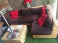 Rattan seating cost £1200