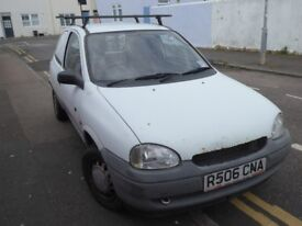 VAUXHALL CORSA MERIT VAN 1.7D WHITE WITH ROOF RACK
