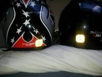 2 motorbike helmets cheap