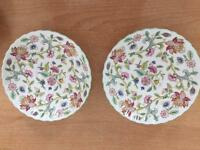 Minton Haddon hall 2 small saucers
