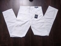 DKNY White trousers W30 L34 Thin Summer trousers Womens White trousers W30 L34