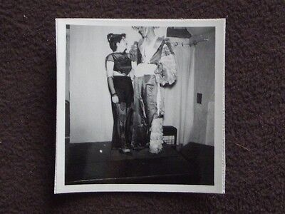 COUPLE IN SEXY DANCE COSTUMES, TOP OF MAN'S HEAD IS MISSING Vintage 1941 (Sexy Black And White Photos Of Couples)