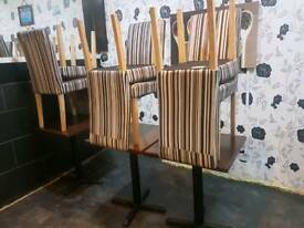 Restaurant takeaway chairs and tables