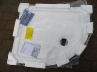 new never fitted offset stone resin shower tray 760 x 900 x 45mm deep/high perfect excellent quality