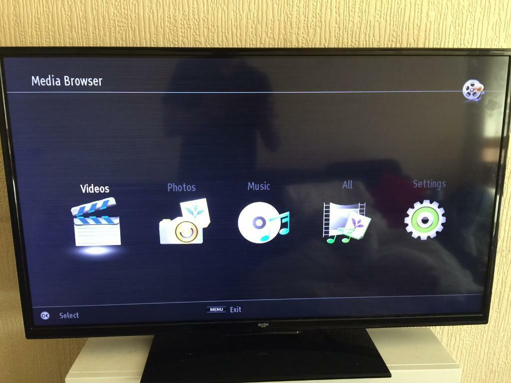 "Bush 42"" Internet Led tv with DVD player built in USB optical"