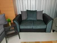 Fab brand new 2 seater sofa in grey and black