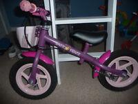 Pink 'Princess Ratz Fratz' balance bike with basket