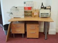 Complete set of office furniture.