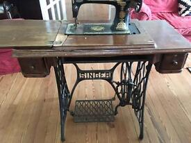 Original Singer Sewing machine (non electric) nearly 100 years old