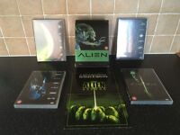 Aliens DVD collection. 4 DVDs. All in good working order and boxed as new.