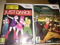 2 Nintendo Wii games, Avatar & Just dance few scratches but all fully working