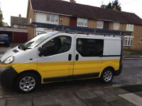 Vauxhall vivaro crew cab 6 seater