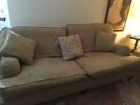 Sofas - 2 X 2 seaters, House of Fraser, harvest gold.