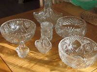 Collection of Cut Glass Crystal