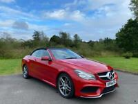 RED Mercedes E350 Convertible, Silver grey leather with contrast trim