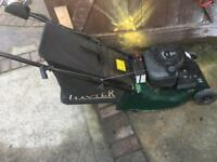 Hayter harrier 41. Self propelled. Electric start mower