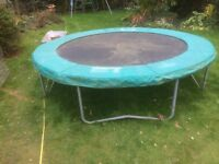 10 ft TP trampoline for sale. Used but still has a lot of bounce.