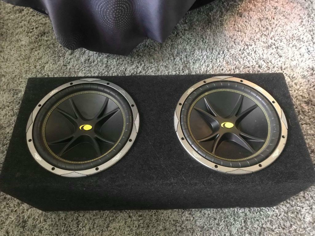 Kicker twin sub 2400w with GTO 600w amp in good working condition | in  Great Yarmouth, Norfolk | Gumtree