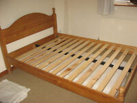 Pine Double Bed ( with or without mattress) see prices