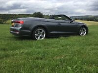 Audi A5 S-Line convertible... registered June 2017, just 5000 recorded miles, cars like new