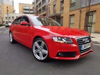 "2010 AUDI A4 2.0 TDI AVANT 19""RS6 ALLOYS RED+BLACK LEATHER 1 OWNER FSH PX"