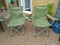 two fold up chairs