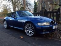 2002 BMW Z3 1.9 Facelift Wide Body FULL SERVICE HISTORY TOPAZ BLUE MANUAL ROOF 2 KEYS