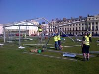 EVENT STAFF MARQUEE RIGGERS / VAN DRIVERS/– TEMPORARY STRUCTURES/MARQUEES £8.75 per hour