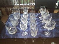 CUT GLASS DRINKING GLASSES
