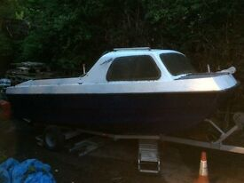 15ft fishing boat with trailer
