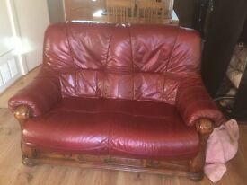 2x vintage 2 seater sofa Antique