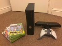 Xbox 360 Black ••With games•• Cheap •• Xbox Kinect ••