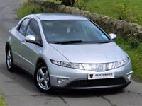★6 MONTHS WARRANTY★ (2007) HONDA CIVIC 1.8 5DR *FULL LEATHER* FSH - ALLOYS - 12 MONTHS MOT