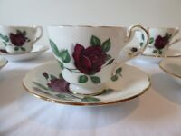 Pre-1960. Antique teaset. Complete vintage tea set. Fine Bone China. Superb condition.