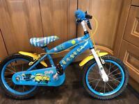 """Boys 14"""" minion bike"""