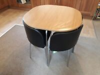 Compact dining table + 4 chairs excellent condition