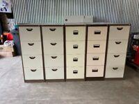 Coffee & Cream 4 Drawer Filing Cabinet. Foolscap, Bisley, Triumph & More