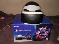 PSVR with camera v2 for PS4, like new, used once.