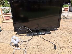 37 in 1080 p LCD LG TV with remote and TV Coax Cable