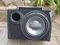 "INFINITY 12"" SUB WOOFER IN-CAR SPEAKER WITH FUSION 1000W AMP IN BOX"