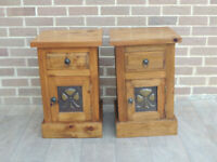 Pair of Solid Wood Chunky Bedside Tables (UK Delivery)